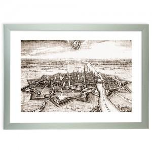 """Zdjęcie """"Panorama Elbląga 1616 r."""" w ramie alum. 30x20mm"""