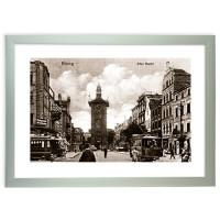"""Zdjęcie """"Stary Rynek w Elblągu""""   w ramie alum. 30x20mm"""