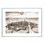"""Zdjęcie """"Panorama Elbląga 1616 r."""" w ramie alum. 9x21mm"""