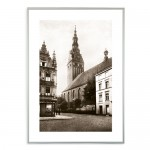 """Zdjęcie """"Katedra w Elblągu"""" w ramie alum. 9x21mm"""