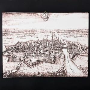 """Obraz na płótnie """"Panorama Elbląga 1616 r."""" (reprodukcja)"""
