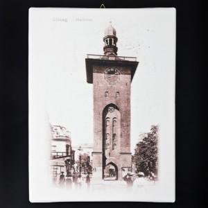 """Obraz na płótnie """"Brama Targowa w Elblągu"""" (reprodukcja)"""