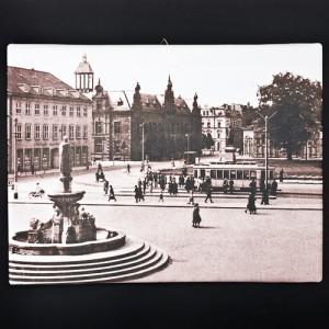 "Obraz na płótnie ""Plac Fryderyka Wilhelma w Elblągu"" (reprodukcja)"