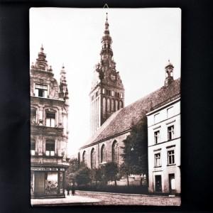 """Obraz na płótnie """"Katedra w Elblągu"""" (reprodukcja)"""