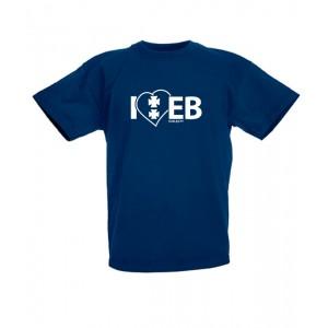 Koszulka granatowa dziecięca I'love EB