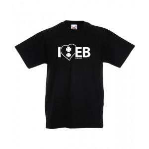 Koszulka czarna dziecięca I'love EB