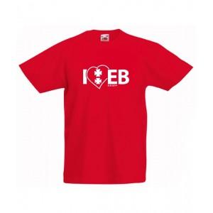 Koszulka czerwona dziecięca I'love EB