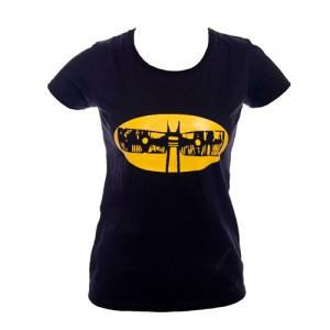"Koszulka (damska) czarna z  ""Batmanem"""