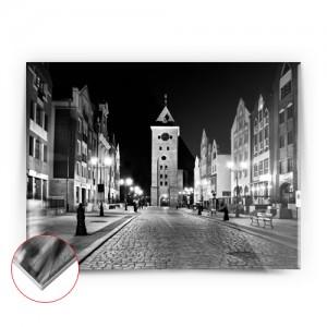 Zdjęcie Nocna Brama Targowa czarno-białe